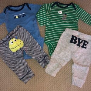2 pack matching outfits Carters 3 mos